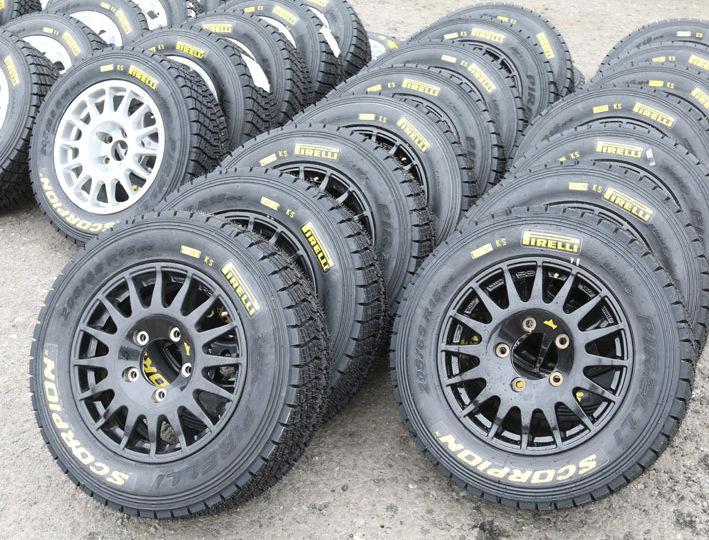 Pirellin renkaita