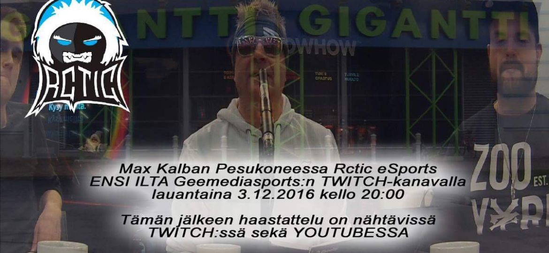 Max Kalban Pesukoneessa Rctic eSports